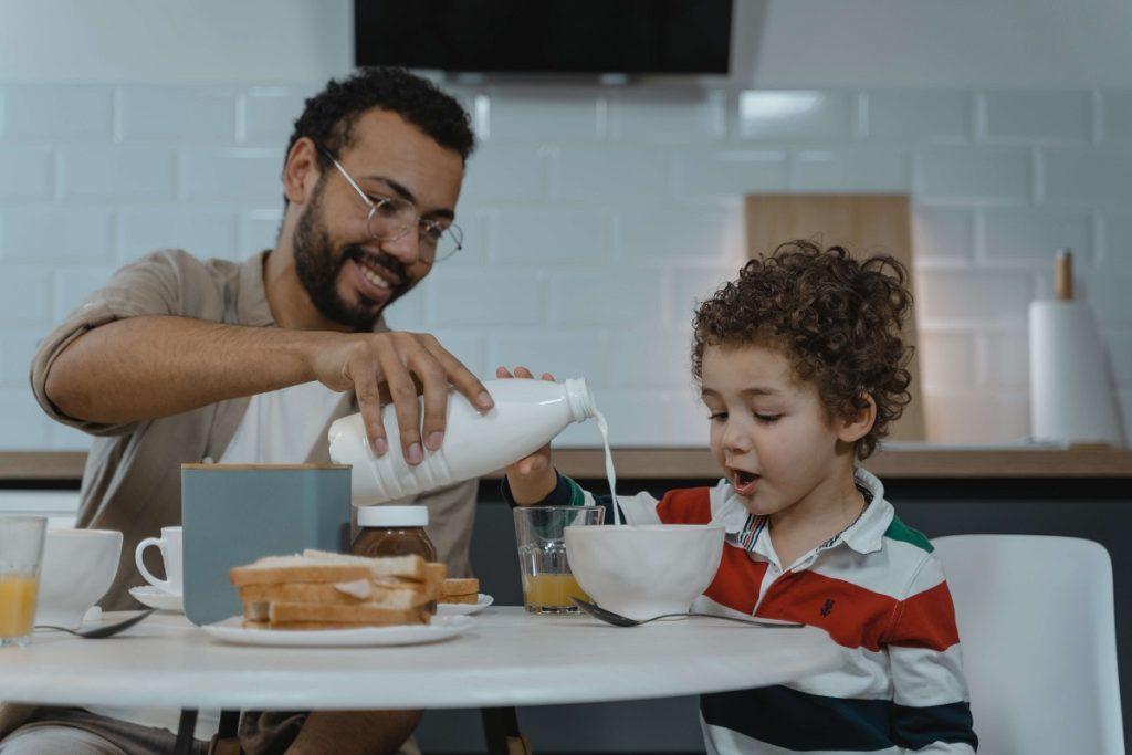 petit déjeuner des enfants